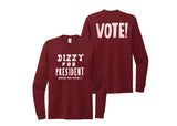 Women's Dizzy Long Sleeve Tee <br> Vino Red