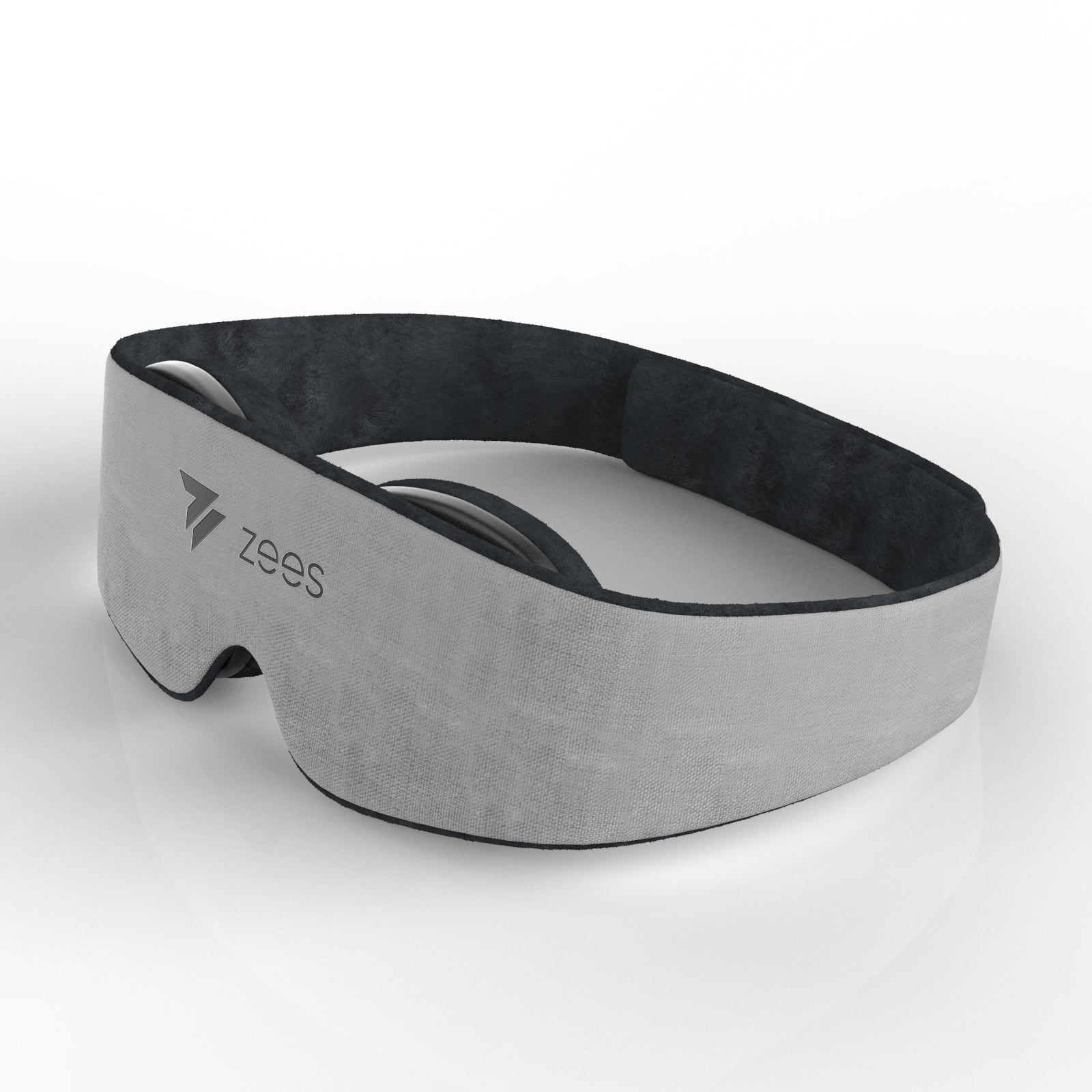 grey sleep mask front view