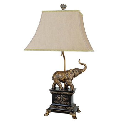 Elephant Table Lamp, Set Of 4, Gold