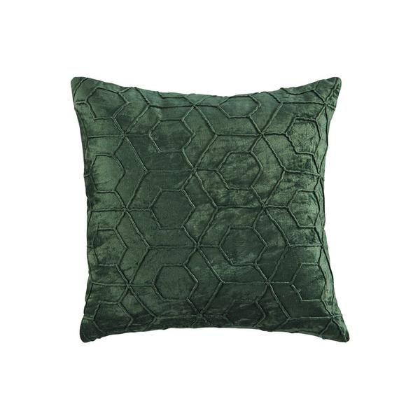 Accent Pillow With Hexagon Design, Set of 4