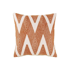 Accent Pillow With Herringbone Print, Set Of 4, Orange