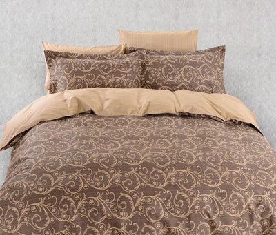 6 Piece Duvet Cover Sheets Set QUEEN