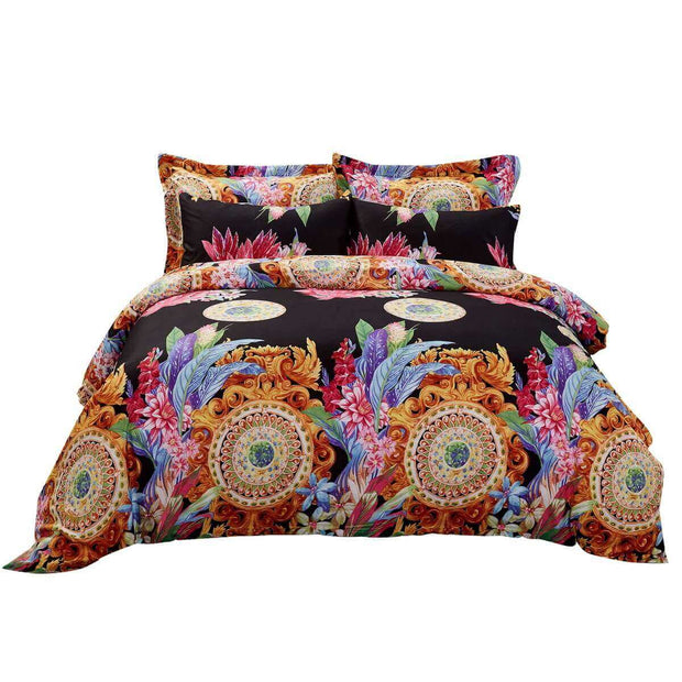 6 Piece Luxury Floral Duvet Set, King & Queen size Bedding