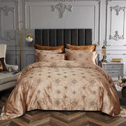 6 Piece Luxury Jacquard Duvet Set, (King & Queen)