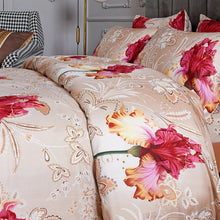 Load image into Gallery viewer, 6 Piece Luxury Floral Duvet Cover Set, King & Queen Size