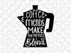 Coffee & Friends Make The Perfect Blend Wall Decal Vinyl For Coffee Shop Bar Wall Graphic Decal Decor Vinyl Sticker
