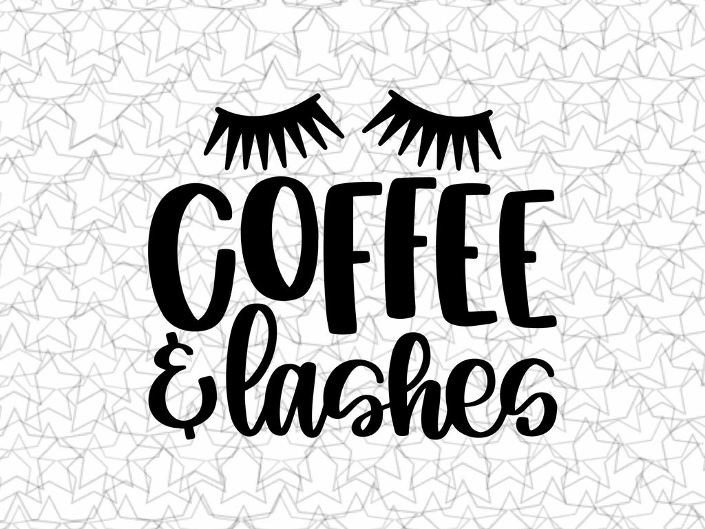 Coffee & Lashes Coffee Wall Decal Vinyl For Coffee Shop Bar Wall Graphic Decal Decor Vinyl Sticker