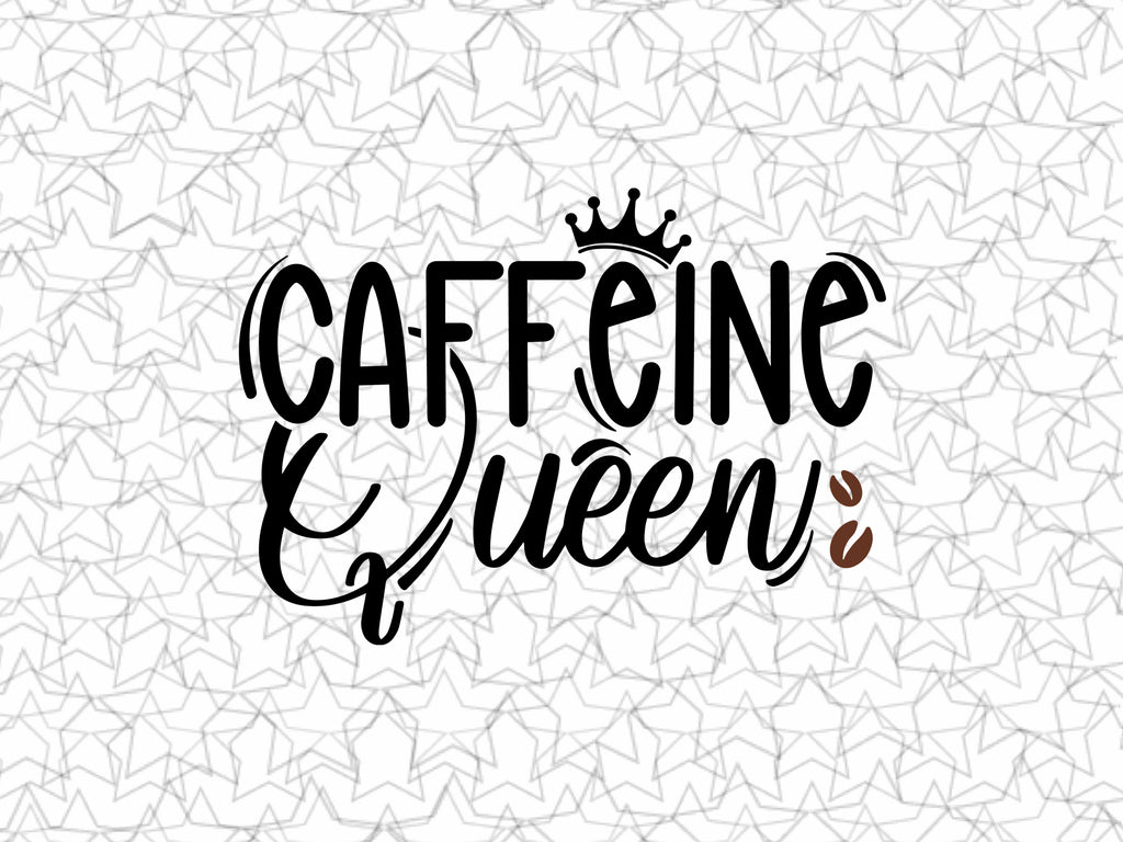 Caffeine Queen Coffee Shop Bar Wall Graphic Decal Decor Vinyl Sticker