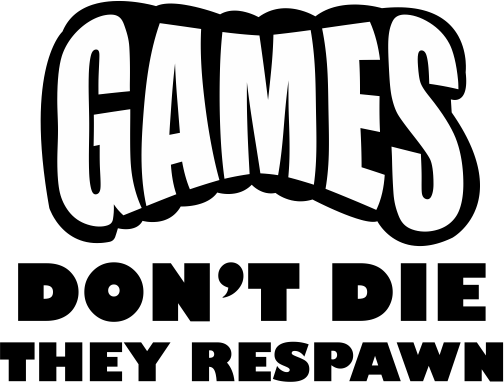 "Fortnite ""Gamers Don't Die They Respawn""  Sticker for Car, Computer, Wall , Game systems"
