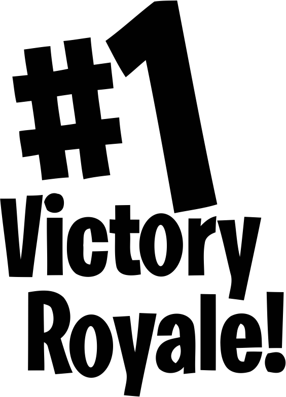 "Fortnite ""#1 Victory Royale"" Sticker for Car, Computer, Wall , Game systems"