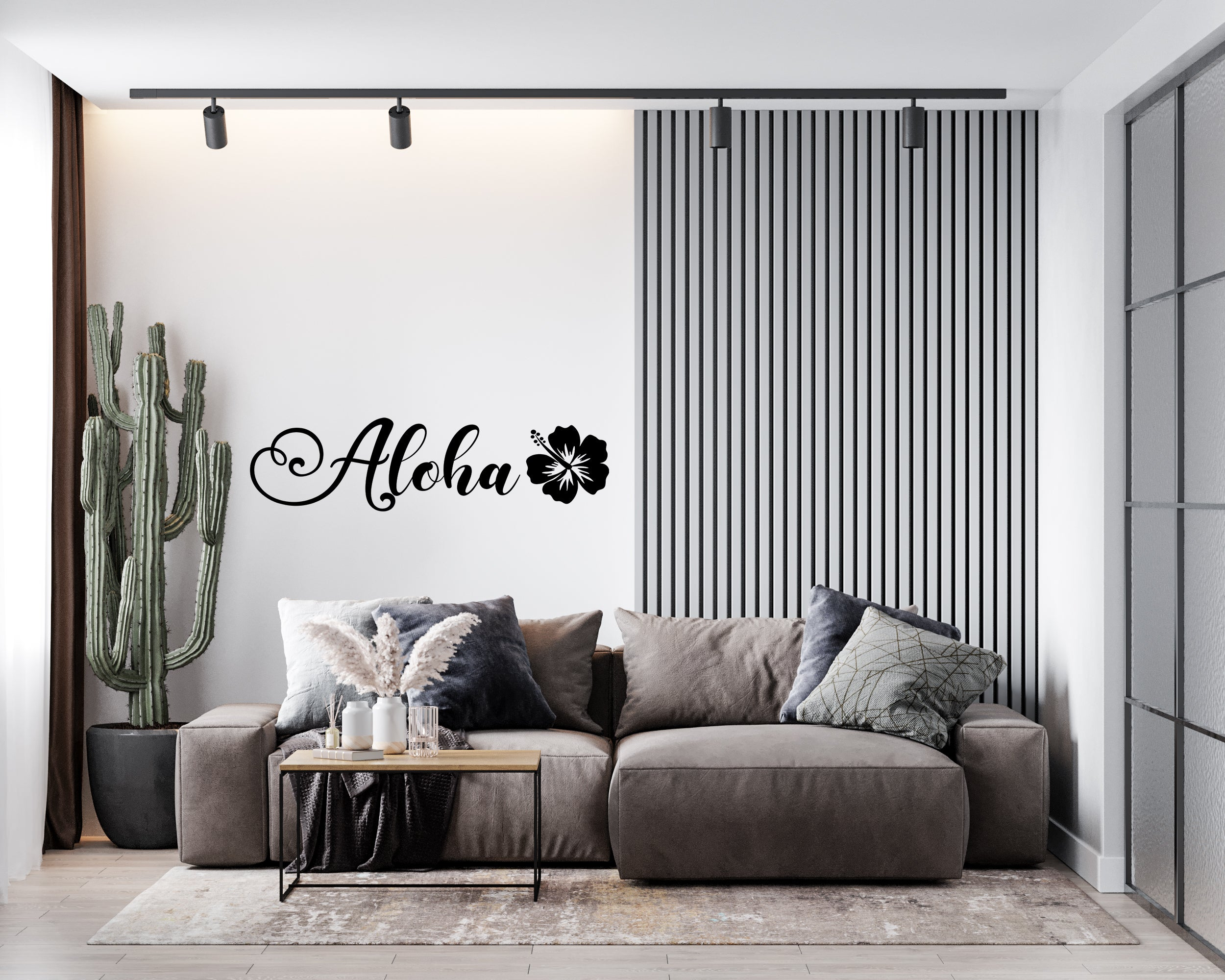 Aloha Beach Vinyl Sticker Tattoo For Living Room,Wall Tattoo,Wall Stickers,Art Decal Decor Poster Decoration Mural,Window Wall