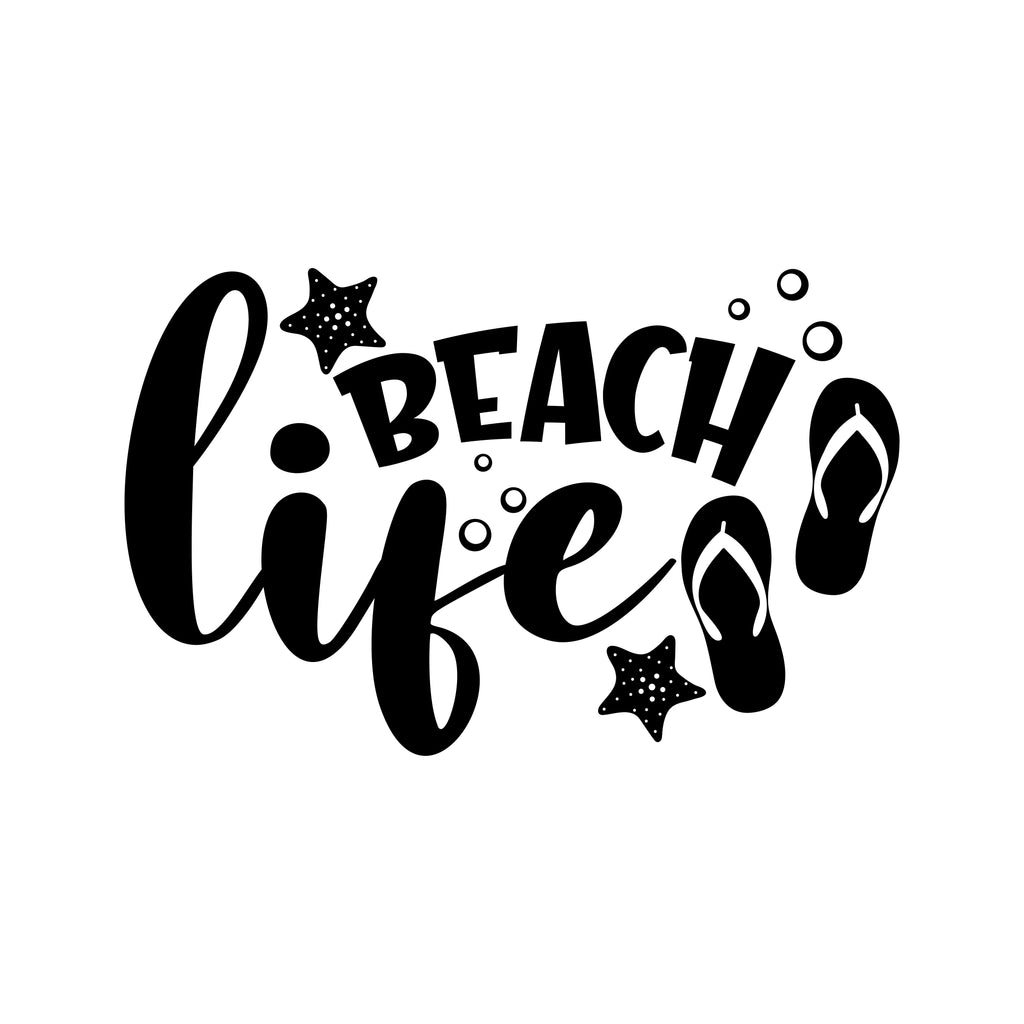 Beach Life Vinyl Sticker Tattoo For Living Room,Wall Tattoo,Wall Stickers,Art Decal Decor Poster Decoration Mural,Window Wall