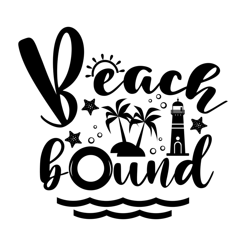 Beach Bound Vinyl Sticker Tattoo For Living Room,Wall Tattoo,Wall Stickers,Art Decal Decor Poster Decoration Mural,Window Wall