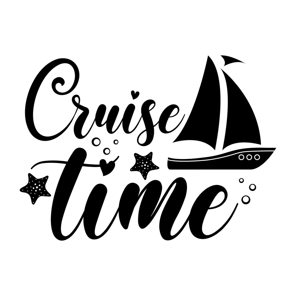 Cruise Time Vinyl Sticker Tattoo For Living Room,Wall Tattoo,Wall Stickers,Art Decal Decor Poster Decoration Mural,Window Wall