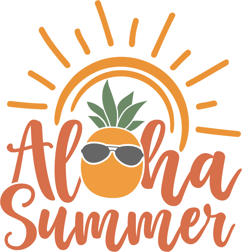 Aloha Summer Vinyl Sticker Tattoo For Living Room,Wall Tattoo,Wall Stickers,Art Decal Decor Poster Decoration Mural,Window Wall