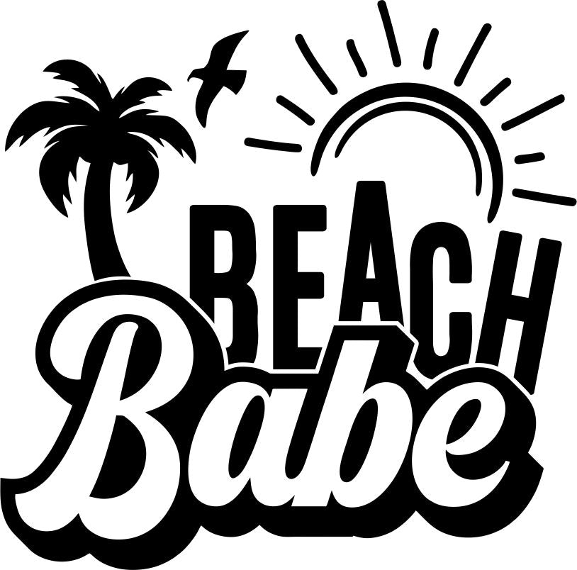 Beach Babe Vinyl Sticker Tattoo For Living Room,Wall Tattoo,Wall Stickers,Art Decal Decor Poster Decoration Mural,Window Wall