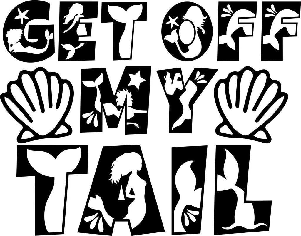 Get Of My Tail Vinyl Sticker Tattoo For Living Room,Wall Tattoo,Wall Stickers,Art Decal Decor Poster Decoration Mural,Window Wall