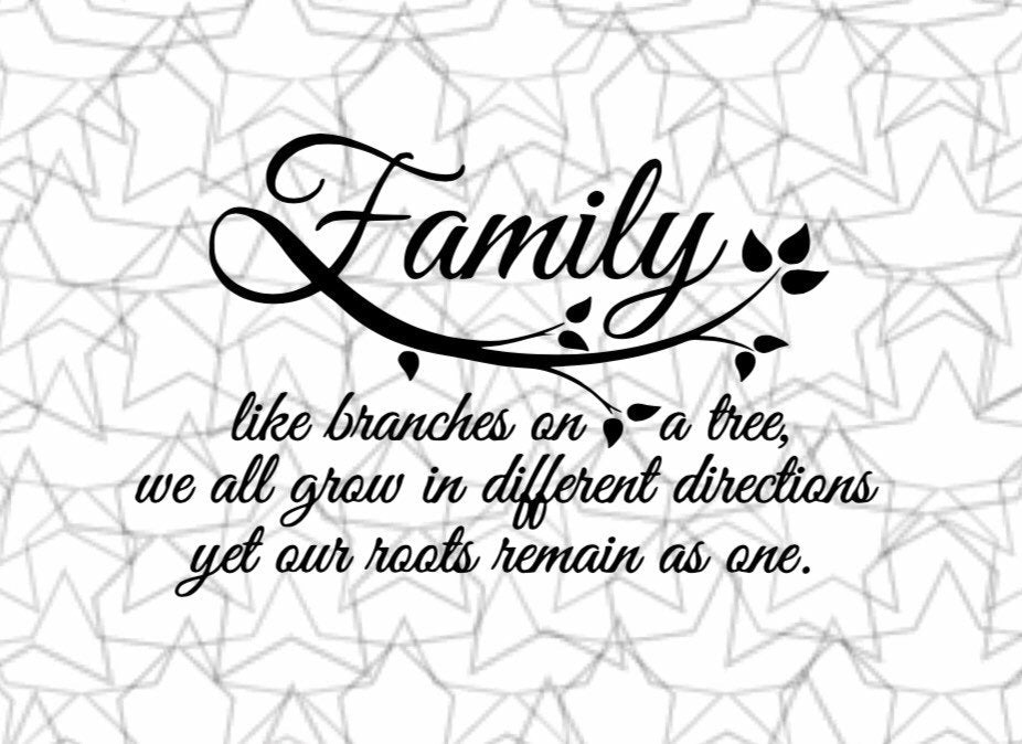Family like branches on a tree ... Wall Decal Vinyl Sticker Tattoo For Windows Glass with Size and Color Options