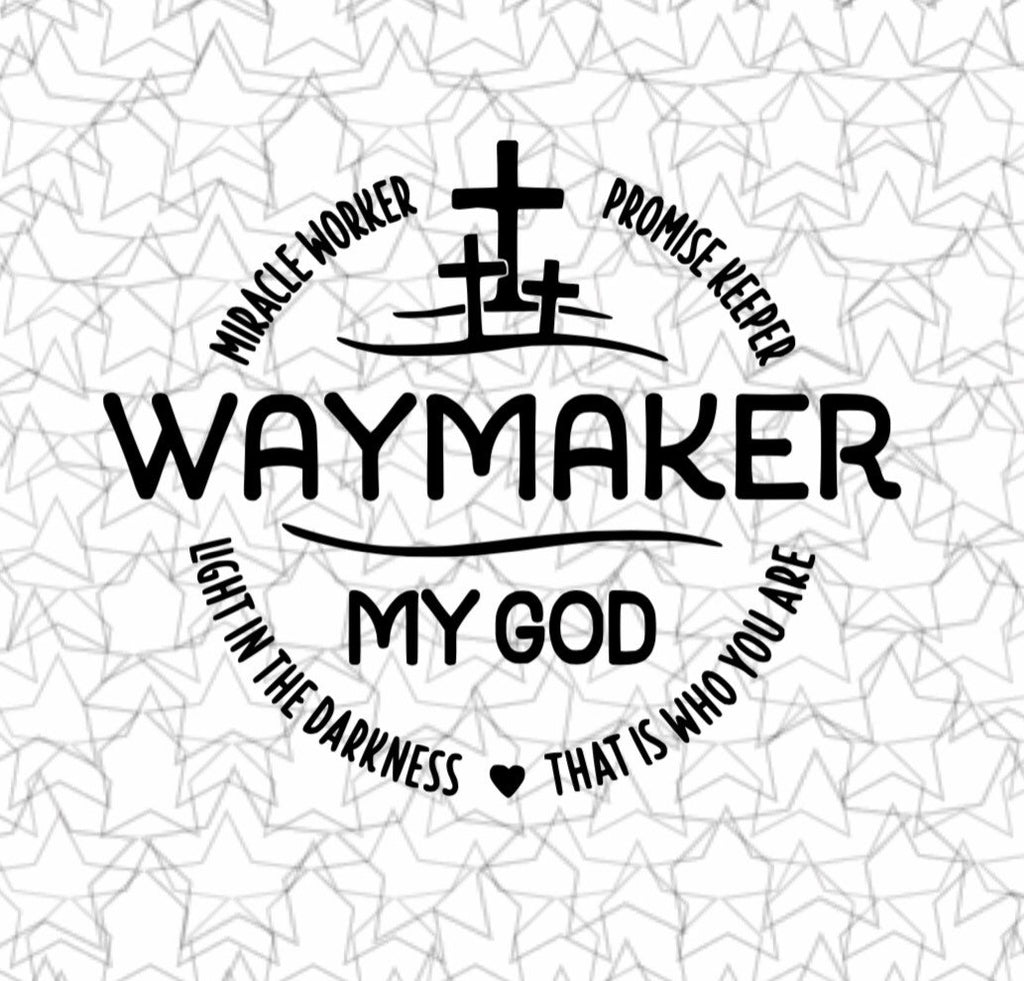 Way Maker Christian Decal Sticker Art Tattoo Way maker -elevation worship