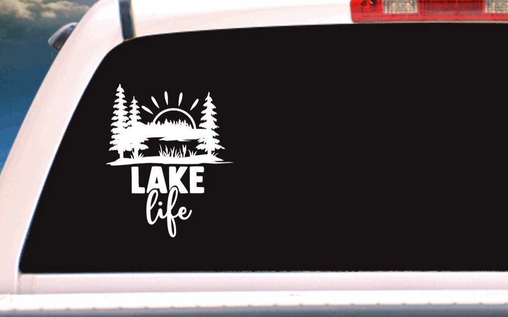 Lake Life Outdoor Vehicle Window, Boat, Camper, Travel Trailer, Mirror Decal, Sticker, Tattoo,