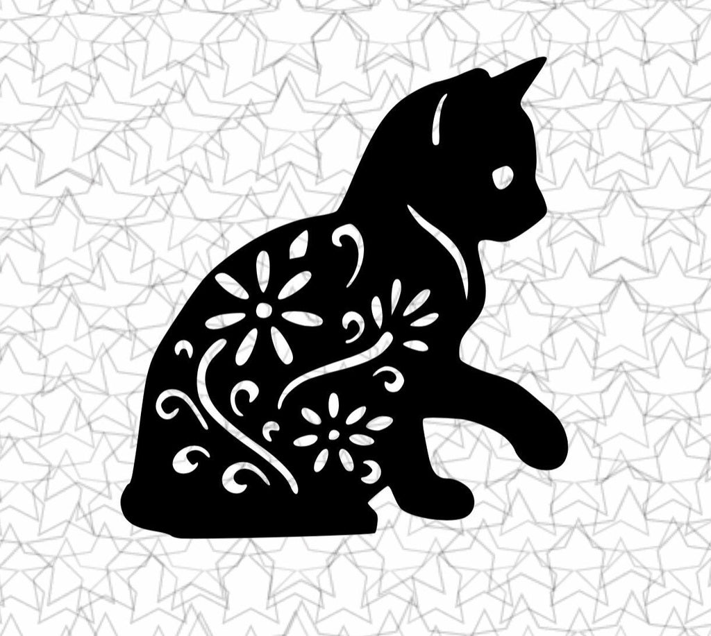 Kitty Cat Wall Art New Sitting Design Beautiful Sitting Flower Floral Cat