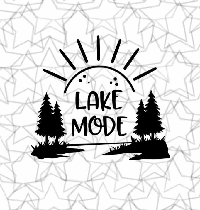 Lake Mode Wall Decal Vinyl Sticker Tattoo For Windows Glass Wall with Size and Color Options