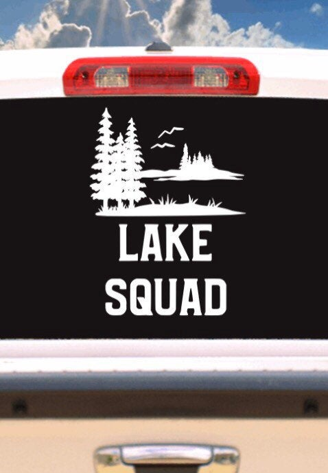 Lake Squad Outdoor Vehicle Window, Boat, Camper, Travel Trailer, Mirror Decal, Sticker, Tattoo,