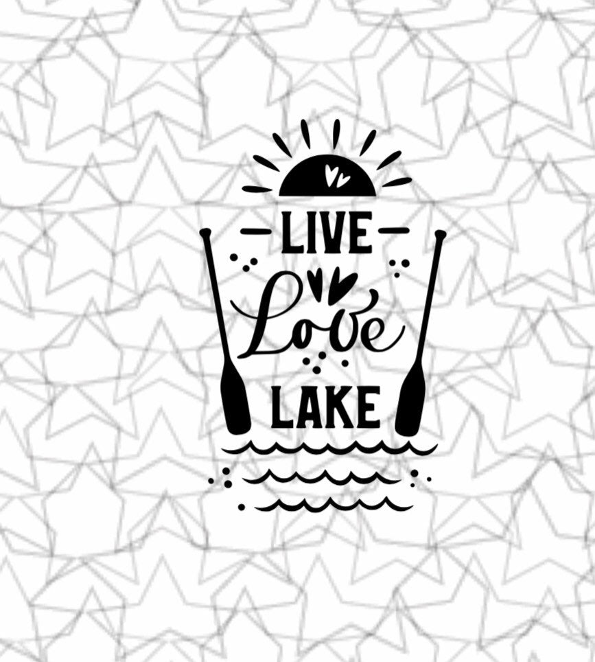 Wall Sticker Live Love Lake Wall Decal Vinyl Sticker Tattoo For Windows Glass Wall with Size and Color Options