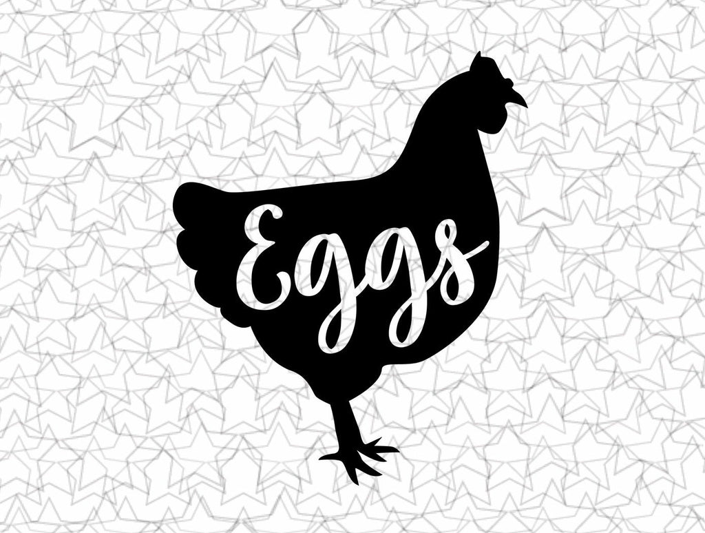 Chicken Eggs Kitchen Wall Decal Vinyl Sticker Tattoo For Windows Glass Wall with Size and Color Options