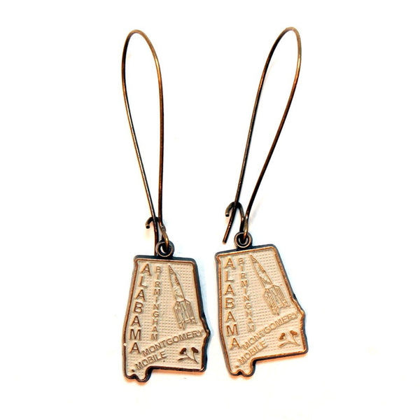 Alabama State Earrings