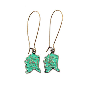 Alaska State Earrings