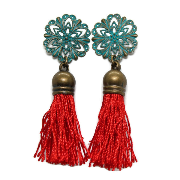 Cancan Floss Tassel Earrings