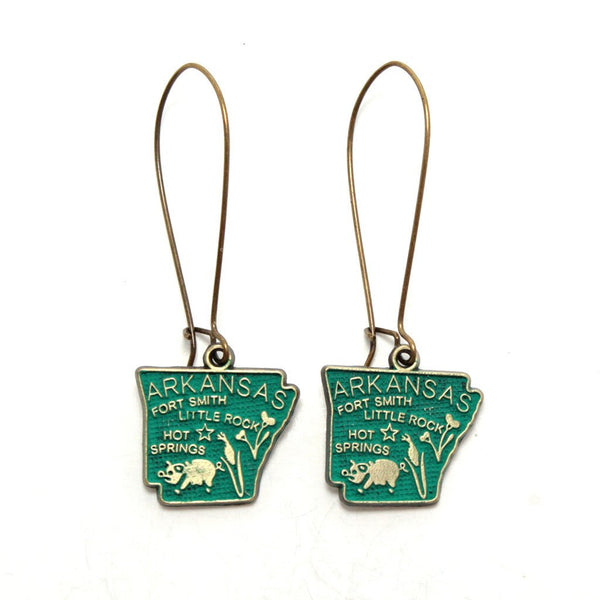 Arkansas State Earrings