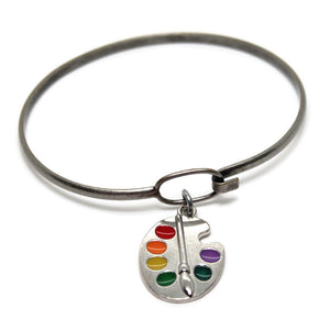 Artist Palette Charm- Charm Only, Bracelet or Necklace