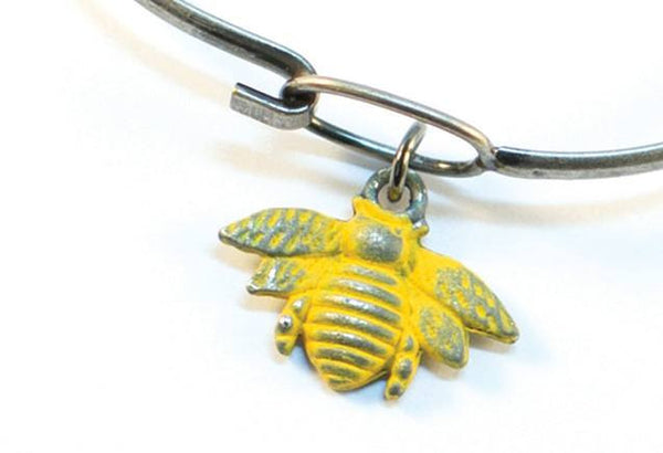 Silver Bee Charm Bracelet or Necklace