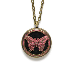 Butterfly Oil Diffuser Necklace