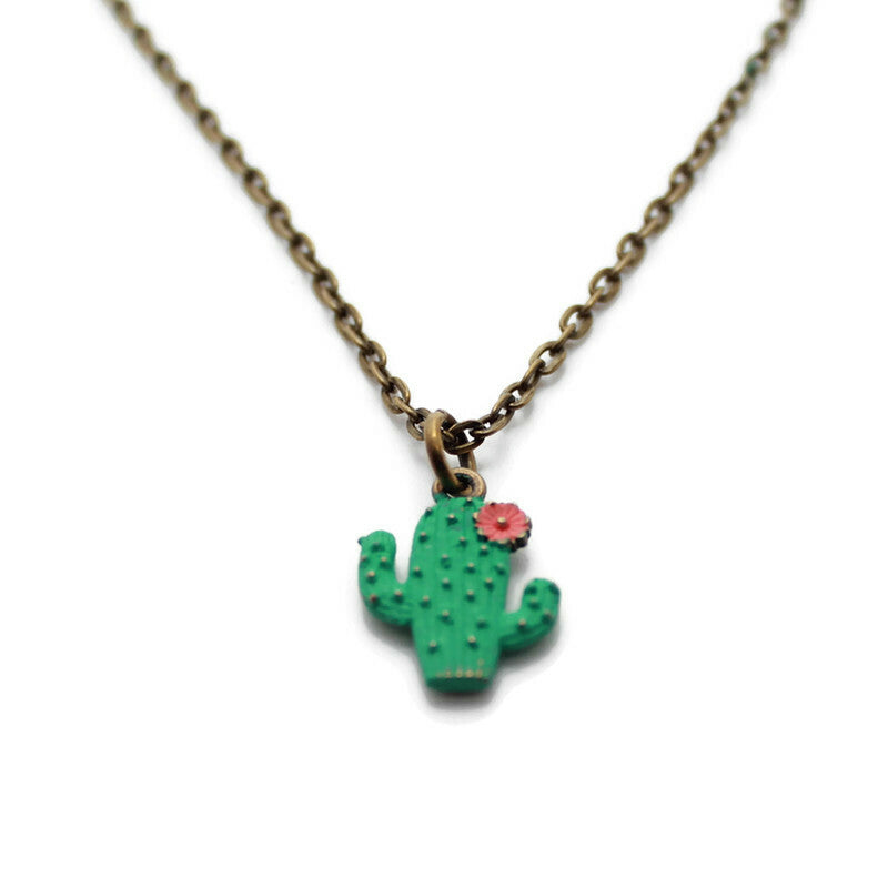 Cactus Bloom Charm Necklace, Bracelet Or Charm
