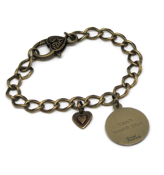 Can't Touch This Heart Charm Bracelet