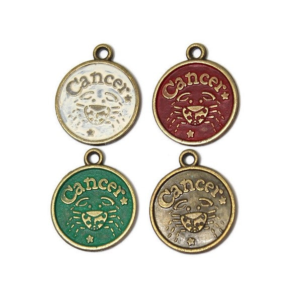 Zodiac Cancer - Charm Bracelet, Necklace or Charm Only