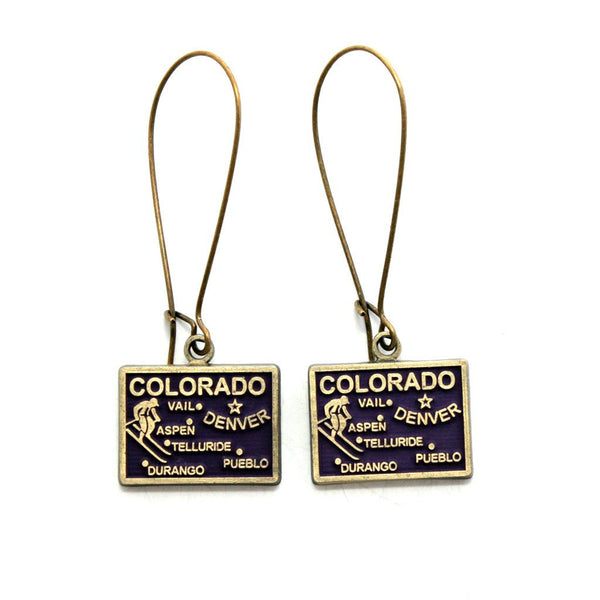 Colorado State Earrings