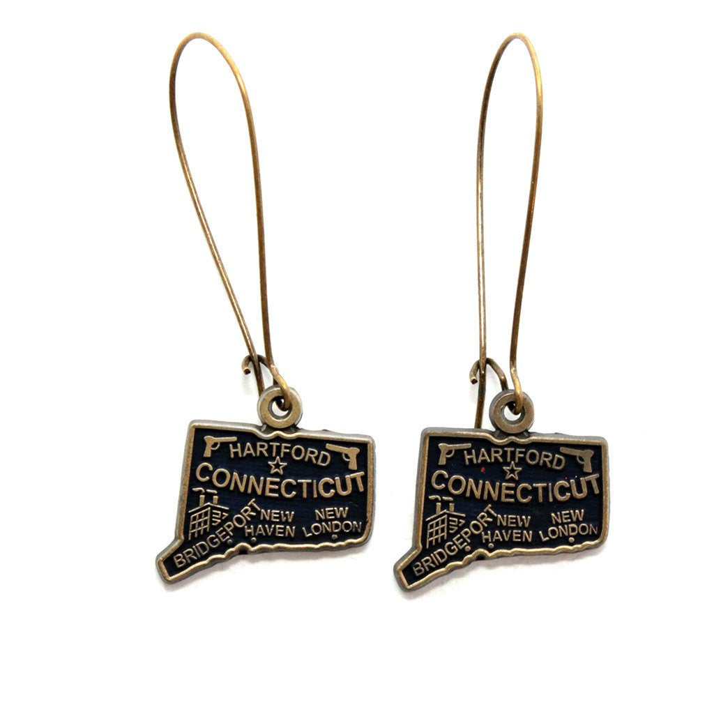 Connecticut State Earrings