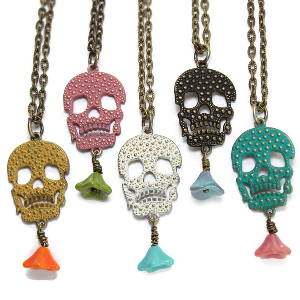 Dearly Departed Skull Necklace