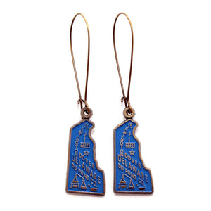 Delaware State Earrings