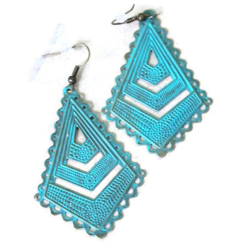 Chevron Filigree Earrings