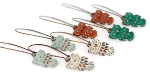 Hoot Owl Charm Earrings