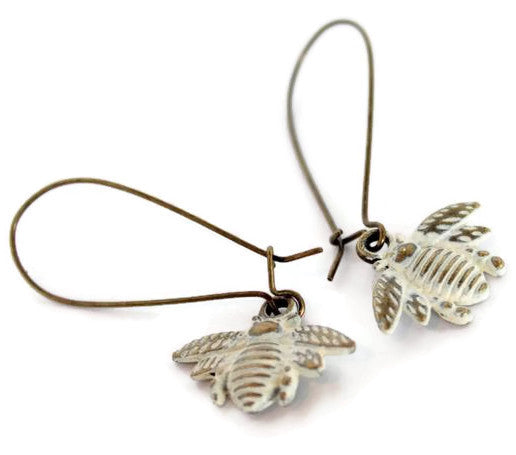 Busy Bee Charm Earrings