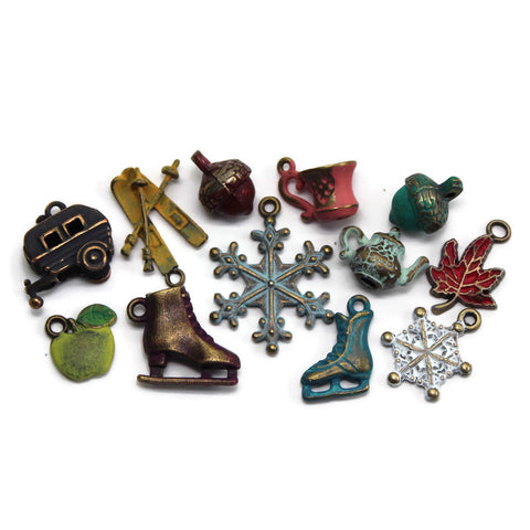 Fall & Winter Charm Collection: Bracelet, Necklace, Earrings or Charm Only