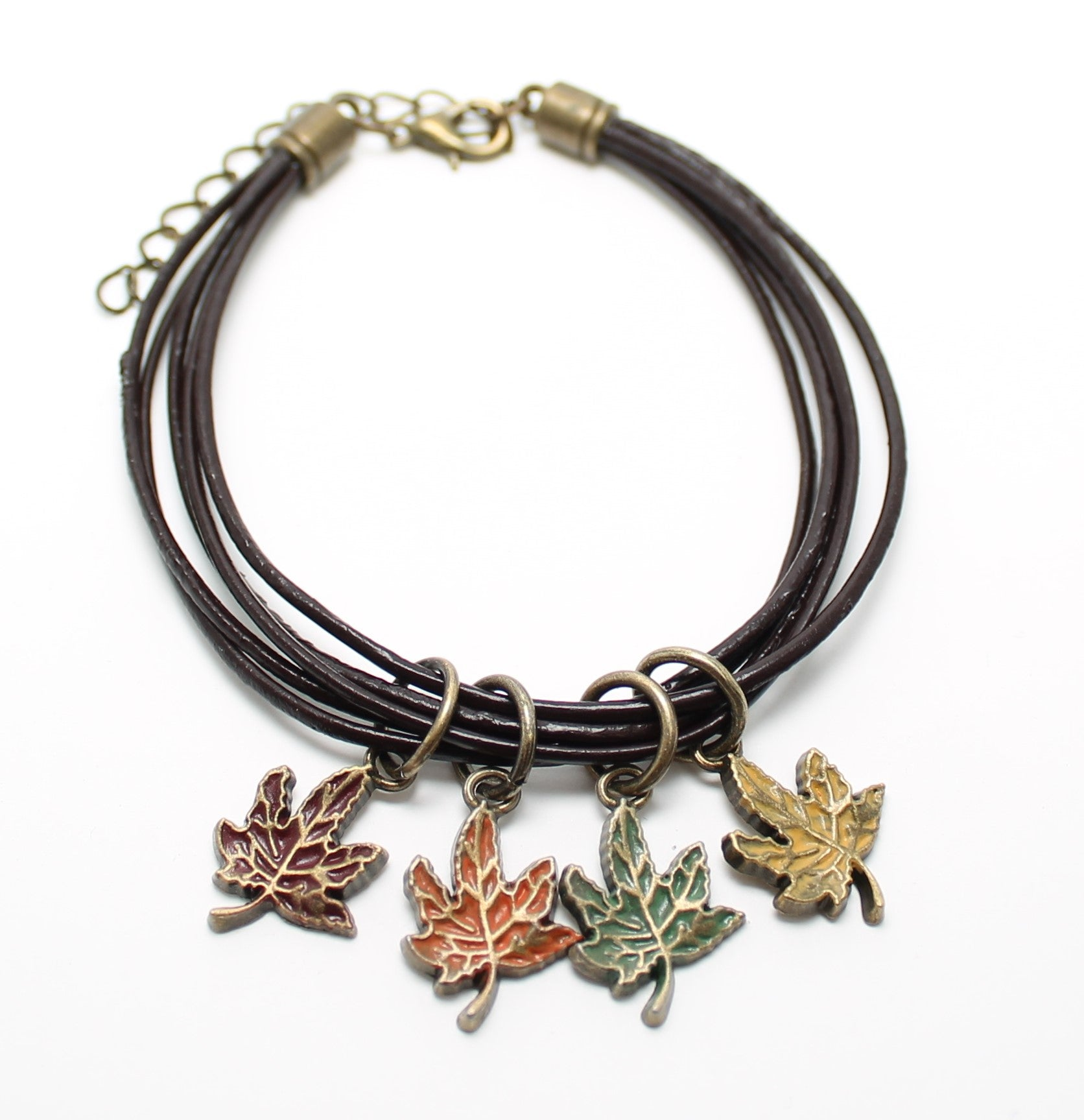 Fall Festival Leather Bracelet