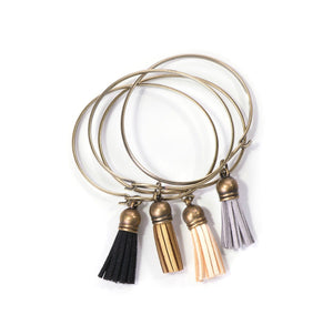 Embellished Tassel Bracelet - Neutral