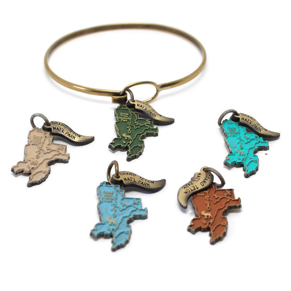 Grand Teton National Park Charm Bracelet, Necklace, or Charm Only